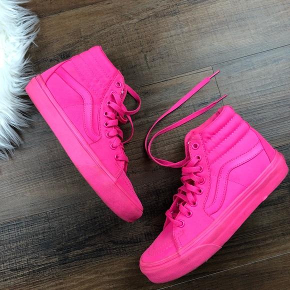 05e0c3c377440a Vans Hot Pink Skate Hi Skate Shoes. M 5a8e745dd39ca2d5863ec8d9